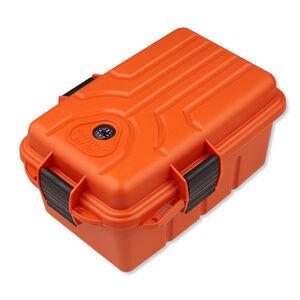 "MTM Survivor Dry Box Orange MTM Case-Gard Plastic Lockable 10x7x4.75"" Snap Lock Latch Compass O-Ring Seal S1074-35"