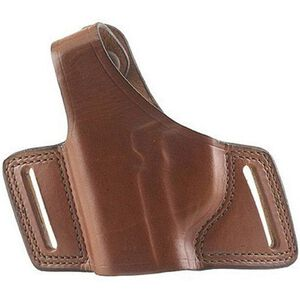 "Bianchi #5 Black Widow Holster Ruger SP101 and S&W J-Frame 2"" Left Hand  Barrel Leather Tan"