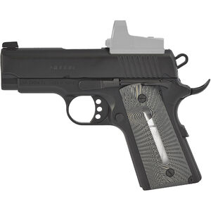 """EAA GiRSAN MC1911SC Ultimate 9mm Luger 1911 Semi Auto Pistol 3.4"""" Barrel 6 Rounds Subcompact Officer Profile G10 Grips with Witness Window Matte Black Finish"""
