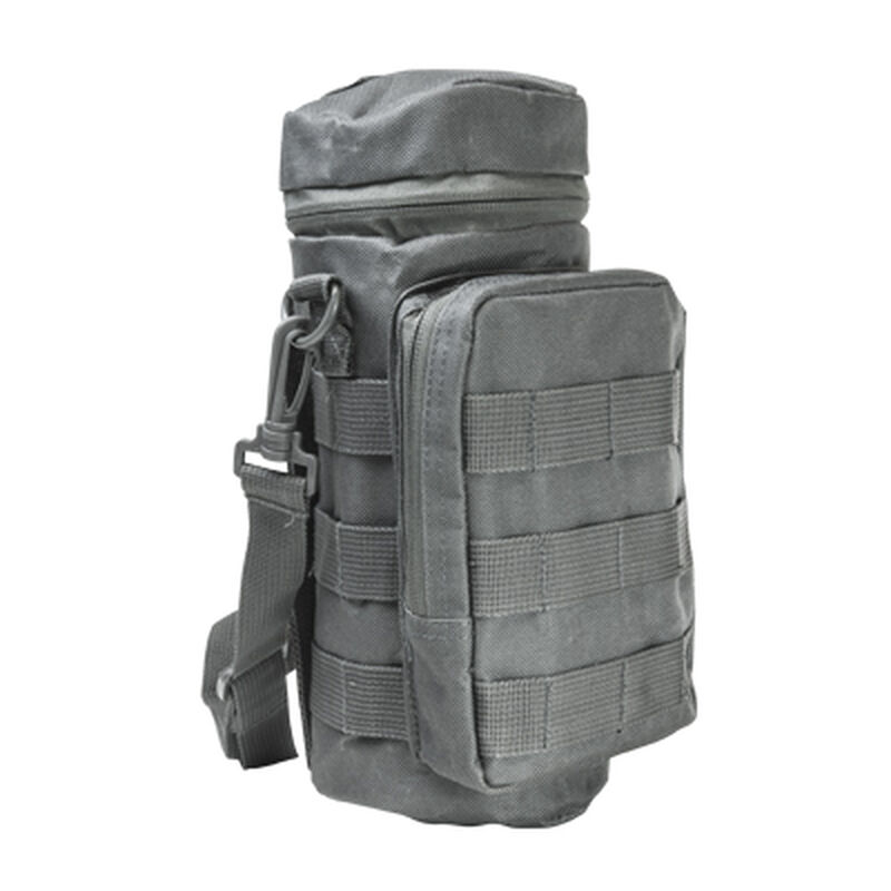 NcSTAR MOLLE Hydration Bottle Carrier Heavy Duty Nylon PVC Material Gray
