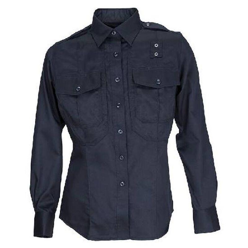 5.11 Tactical Women's PDU Long Sleeved Shirt Twill Small Regular Black 62065