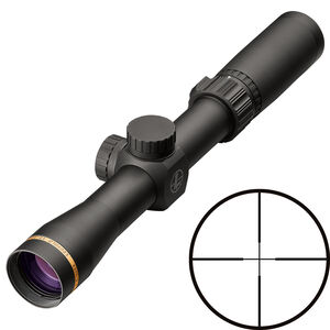 "Leupold VX-Freedom Scout DPX 1.5-4x28 Riflescope Duplex Non-Illuminated Reticle 1"" Tube .25 MOA Adjustments Finger Click Turrets Second Focal Plane Matte Black Finish"
