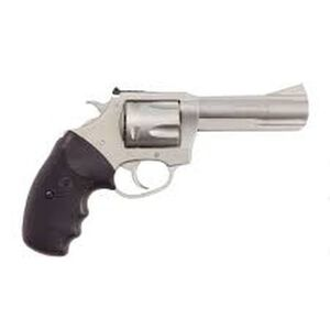 """Charter Arms Target Bulldog Double Action Revolver .44 Special 4.2"""" Barrel 5 Rounds Full Rubber Grip Matte Stainless Steel 74442"""