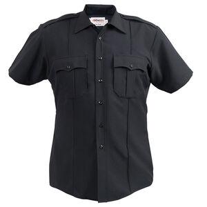 Elbeco Textrop2 Men's Short Sleeve Shirt Neck 16.5 100% Polyester Tropical Weave Navy