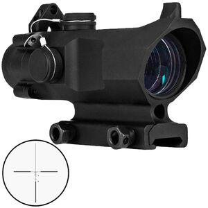 Trinity Force Titan Optic 4x32mm Compact Tactical Scope T-BDC Reticle Picatinny Mount 1/4 MOA Adjustment with Back-up Sights Aluminum Black