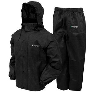 Frogg Toggs All Sports Suit Adult Large Waterproof Breathable Nylon Black AS1310-01LG