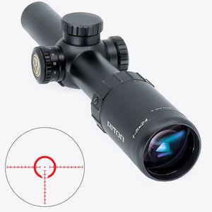 Riton RT-S Mod 7 1-5x24 Riflescope Illuminated Mod 1 QA Reticle 30mm Tube .5 Inch Adjustment Fixed Parallax 6061-T6 Aluminum Matte Black
