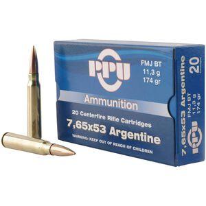 Prvi Partizan 7.65x53 Argentine Ammunition 20 Rounds FMJBT 174 Grains