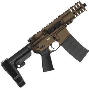 "CMMG Banshee 300 Mk4 9mm Luger AR-15 Semi Auto Pistol 5"" Barrel 30 Rounds Uses ARC Magazines RML4 M-LOK Handguard CMMG Micro/CQB RipBrace Midnight Bronze Finish"
