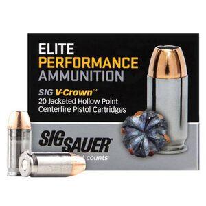 SIG Sauer 10mm Auto Ammunition 20 Rounds, V-Crown JHP, 180 Grain