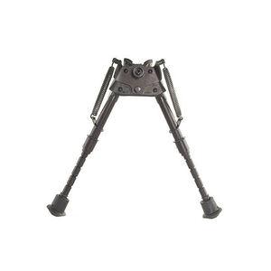 "Harris Ultra-light Bench Rest Bipod Swivel/Notched Legs Sling Swivel Stud Mount 6"" to 9"" Telescoping/Folding Legs Aluminum Matte Black S-BRM"