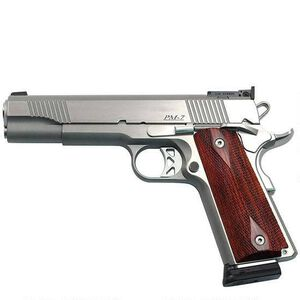 """Dan Wesson Pointman Seven Semi-Auto .45 ACP 5"""" Stainless Barrel 7 Rounds Diamond Checkered Coco-Bolo Grip Stainless Finish 01900"""