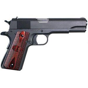 "Auto-Ordnance Thompson Series 80 1911 .45 ACP Semi Auto Pistol 5"" Barrel 7 Rounds Checkered Wood Matte Black"