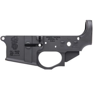 Spike's Tactical Pineapple Grenade AR-15 Stripped Lower Receiver Multi Caliber Marked Aluminum Black