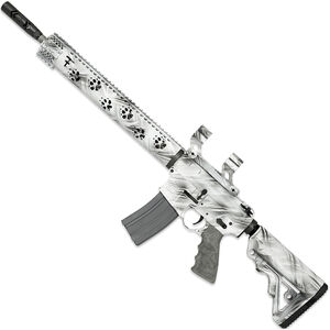 """Rock River LAR-15 Fred Eichler Series Predator2 5.56 NATO AR15 Semi Auto Rifle 16"""" Fluted Barrel .223 Wylde Chamber 30 Rounds with Scope Mount Free Float Handguard Collapsible Stock Ghost Camo Finish"""