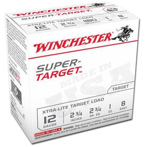 "Winchester Super-Target 12-Gauge Ammunition, 250 Rounds, 2.75"", #8 Lead, 1 oz"