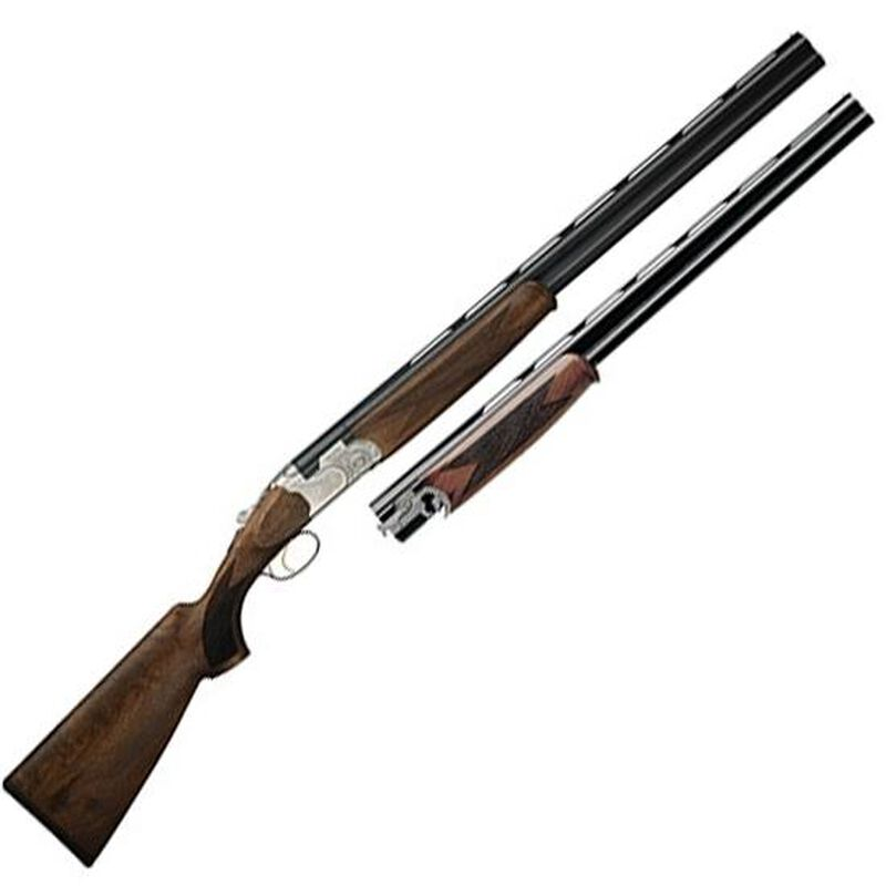 "Beretta 686 Silver Pigeon I Combo .410 Bore/28 Gauge O/U Break Action Shotgun 28"" Vent Rib Double Barrels 2 Rounds Low Profile Engraved Silver Receiver Walnut Stock with Schnabel Forend Blued Barrel Finish"