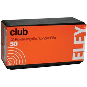 Eley Club .22 Long Rifle LRN, 40 Grain 50 Round Box