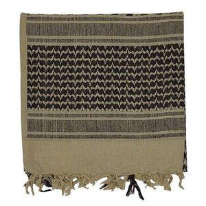 "Voodoo Tactical Woven Coalition Desert Scarves Cotton 42""x42"" Khaki/Black"