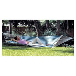 Texsport Surfside Hammock 110 Inches by 57 Inches Green and White 14267