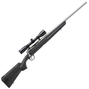 "Savage Axis XP Stainless Bolt Action Rifle .25-06 Remington 22"" Barrel 4 Rounds Detachable Box Magazine Weaver 3-9x40 Riflescope Synthetic Stock Matte Black Finish"
