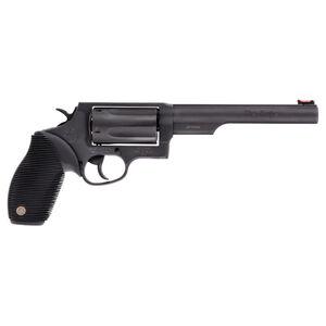 "Taurus Judge .45 Long Colt/.410 Bore Revolver 6.5"" Barrel 2.5"" Chamber 5 Rounds Fiber Optic Front Sight/Fixed Rear Sight Ribber Grip Matte Black Oxide Finish"
