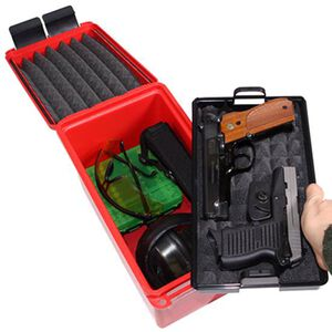 MTM Case-Gard Handgun Conceal Carry Case Plastic Red