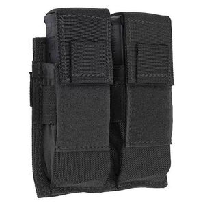 Tac Shield Pistol Double Magazine Pouch MOLLE Black T3602BK