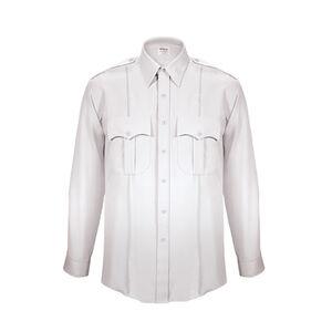 Elbeco TexTrop2 Men's Long Sleeve Shirt with Zipper Size18 Neck 37 Sleeve White