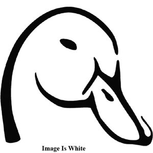 "Outdoor Decals ""Mallard Head"" Decal 6""x6"" Vinyl White"