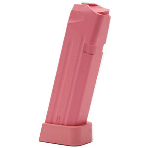 Jagemann Sporting Group GLOCK 17/17L/18/34 Full Size Extended Magazine 9mm Luger 18 Round Capacity Polymer Construction Pink Finish
