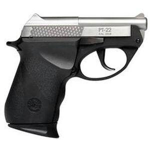 "Taurus Model PT-22 Semi Auto Handgun .22 Long Rifle 2.75"" Barrel 8 Rounds Polymer Grips Stainless Finish 1220039PLY"
