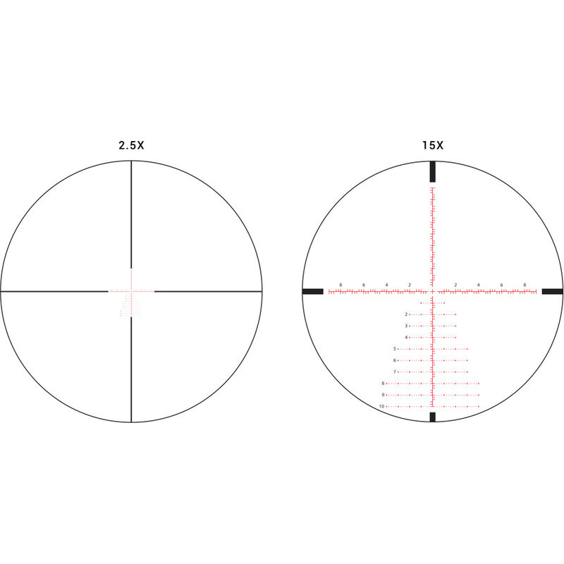 Athlon Ares 2.5-15x50 Riflescope Illuminated Etched Glass MIL Reticle 30mm Tube 0.1 Mil Adjustment Side Adjust Parallax First Focal Plane Matte Black
