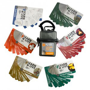 Ultimate Survival Technologies Learn & Live Outdoor Skills Card Set 20-02752