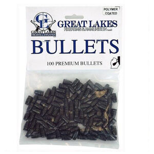 "Great Lakes Bullets .38/.357 Caliber .358"" Diameter 158 Grain Cast Lead Semi-Wadcutter Bullets Polymer Coated 100 Pack"