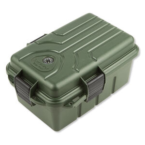"MTM Survivor Dry Box Green MTM Case-Gard Plastic Lockable 10x7x4.75""  Snap Lock Latch Compass O-Ring Seal"