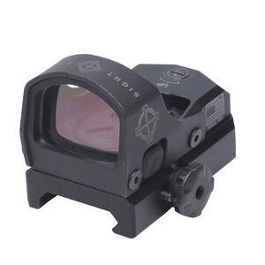 Sightmark Mini Shot M-Spec FMS 3 MOA Red Dot Reflex Sight Low/High Fixed Mount  Rubber Cover CR1632 Battery Matte Black Finish