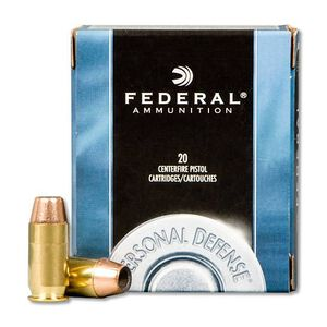 Federal .45 ACP Ammunition, 20 Rounds, 185 Grain JHP