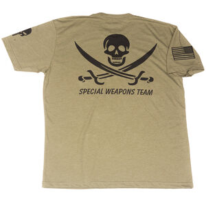 Spike's Tactical Throwback Special Weapons Team Men's Short Sleeve T-Shirt Med Military Green