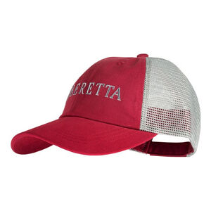 Beretta LP Trucker Hat Cotton/Mesh Adjustable Fit Navy/Tan
