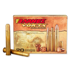 Barnes VOR-TX Safari .500 Nitro Express Ammunition 20 Rounds 570 Grain Banded SFN Lead Free 2100 fps