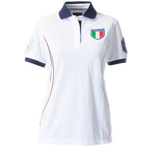 Beretta Special Purchase Women's Uniform Free Time Polo Short Sleeve XL Cotton White and Navy Blue