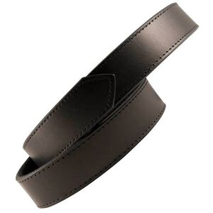 Boston Leather 6520 Reversible Garrison Sam Browne Inner Belt Size Large Hook and Loop Velcro Plain Leather Black 6520-1-L