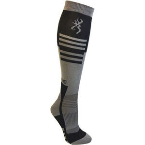 Browning Unisex Elm Socks Large Calf Height Polyester Black and Gray
