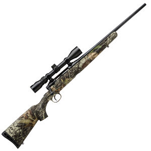 "Savage Axis XP Camo Compact Bolt Action Rifle 7mm-08 Remington 20"" Barrel 4 Rounds Detachable Box Magazine Weaver 3-9x40 Riflescope Synthetic Stock Mossy Oak Break Up Country Finish"