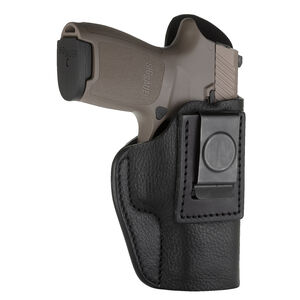 1791 Gunleather Smooth SCH-5 Multi-Fit IWB Concealment Holster for Large Compacts with Rails Semi Auto Pistols Right Hand Draw Leather Black