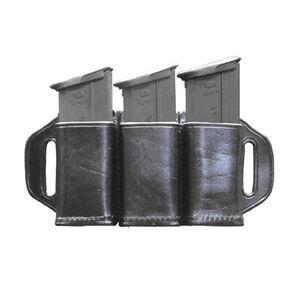 Stallion Leather Triple Magazine Holder for Double Stack .45 / FN 5.7 Black
