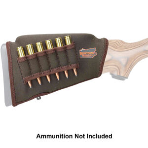 "Beartooth Products Comb Raising Kit 2.0 with Rifle Ammo Loops 7"" Long Fits Most Rifle Stocks Neoprene Brown"