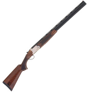 "TriStar Setter S/T Over/Under Shotgun 12 Gauge 28"" Vent Rib Barrels 2 Rounds 3"" Chambers Silver Receiver Gloss Wood Stock Fiber Optic Sight Black 30129"