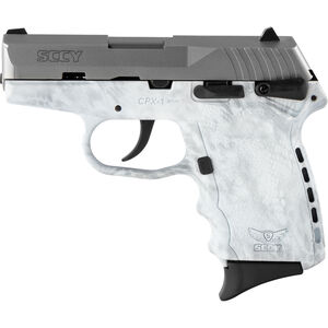 """SCCY CPX-1 9mm Luger Subcompact Semi Auto Pistol 3.1"""" Barrel 10 Rounds Ambidextrous Safety Kryptek Yeti Polymer Frame with Stainless Slide Finish"""